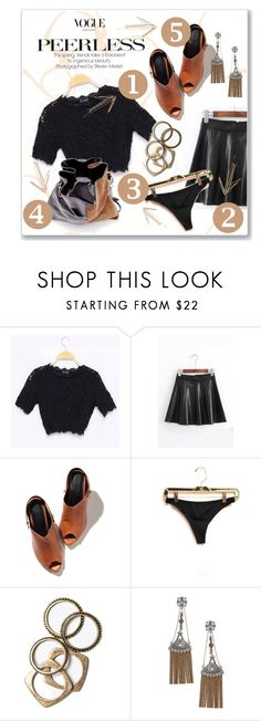 """Conjuntinho marrom"" by patri-fachini ❤ liked on Polyvore featuring Alexander Wang, Rachel Leigh and Topshop"
