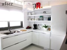 Kitchen makeover / after Furniture Layout, Home Furniture, All White Kitchen, White Kitchens, Pretty Room, Interior Inspiration, Kitchen Inspiration, Kitchen Ideas, Design Inspiration