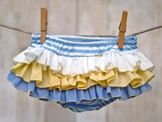 Baby Bloomer Ruffle Diaper Cover Ruffle Bloomer by BloominBloomers.
