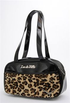 CRUISER TOTE LEOPARD (CHOOSE BLACK OR RED)