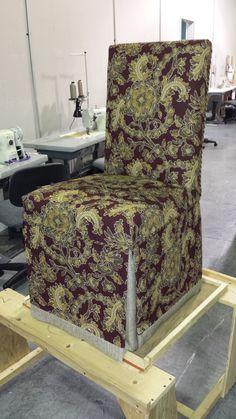 custom parsons chair slipcover.