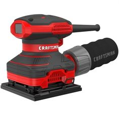 The Craftsman sheet sander is ideal for light sanding applications such as fine finishing before coatings. The detachable dust bag also allows a 1 Sheet Sander, Finishing Sander, Electronic Speed Control, Power Sander, Parcel Shipping, Thing 1, Paper Punch, Wall Organization, Tie Dye