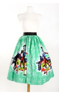 Pinup Couture - Pinup Couture Matador Panel Skirt | Pinup Girl Clothing| up to size 2X