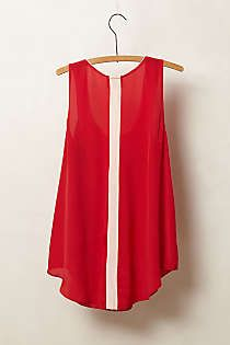 Anthropologie - Piped Silk Tank