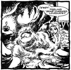 Joyleaf and Bearclaw's cheeks. Elfquest.