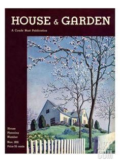 House & Garden Cover - November 1931 Regular Giclee Print by Pierre Brissaud at Art.com