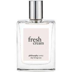 philosophy fresh cream eau de toilette 2 oz (59 ml) ($38) ❤ liked on Polyvore featuring beauty products, fragrance, fillers, perfume, beauty, makeup, cosmetics, eau de toilette perfume, philosophy perfume and edt perfume