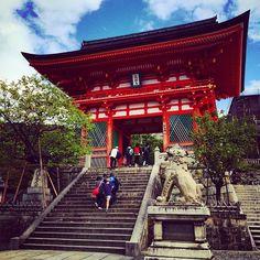 Entrance to the Kiyomizu temple, Kyoto, Japan Kiyomizu Temple, Kyoto Japan, Entrance, Travelling, Journey, Cabin, House Styles, Home, Decor