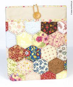 Couverture papier Patchwork/fluos de piercing de la tablette