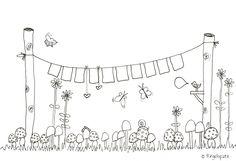 Eine tolle Girlande für dich im Garten #Ausmalbild #Malvorlage #gratis