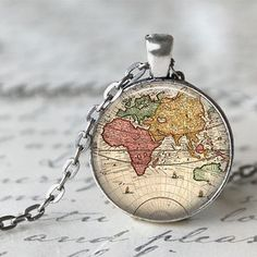 World map necklace world map pendant world map jewelry summerty world map necklace world map pendant world map jewelry summerty new my style pinterest map necklace pendants and punk gumiabroncs Gallery