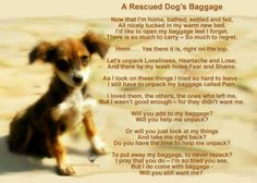 A Rescued Dog's Baggage    But I do come with baggage -  Will you still want me?     *FTLTD Original Design*