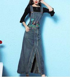 Rochia de blugi este un must-have. Kalimeramark.ro este o stare de bine. Fii deosebita, indrazneste! #rochii #rochiidenim Waist Skirt, High Waisted Skirt, Fii, Jeans, Overalls, Denim, Skirts, Fashion, Everything