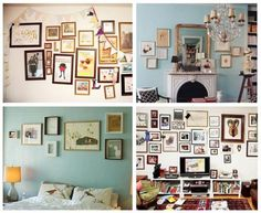 Been on a bit of a frame kick lately- perfect inspiration for my bedroom's stark white walls!
