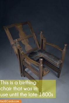 This is a birthing chair that was in use until the late 1800s - http://factecards.com/birthing-chair-use-until-late/