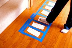 Math Stomp It! Place Value Game. Place feet and have students read number as they stomp it.