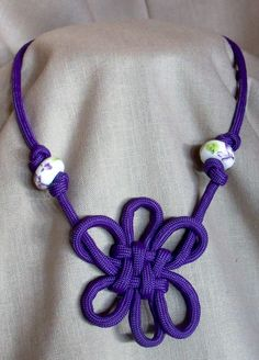 Paracord Knotted Necklaces by PWPersonalCreations on Etsy, $20.00