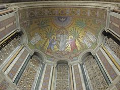 Half-Dome of Apse - Mosaics by Hildreth Meiere in association with the Ravenna Mosaic Company from St. Louis, Missouri. St. Bart's NYC