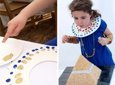 Egyptian Fingerprint Collar Template | via Paging Supermom #girlscouts #thinking day