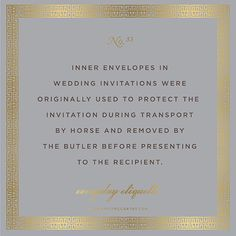 Everyday Etiquette No. 33 | inner envelopes