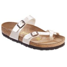What do you do when you already have a closet full of Birkenstock s, but you just want more? You pick up the Birkenstock Mayari Birko-Flor™ Sandals. Instead of the standard look, you can rock thin straps that still offer a secure fit.