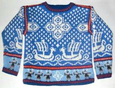 Items similar to Five Year Viking Ship Sweater on Etsy Knitting For Kids, Crochet For Kids, Baby Knitting, Knit Crochet, Knitting Patterns, Yarn Thread, Star Designs, Baby Sweaters, Tejidos