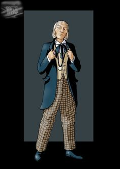 4th Doctor, First Doctor, Cartoon Movie Characters, Fictional Characters, Serie Doctor, Dr Williams, William Hartnell, Classic Doctor Who, Doctor Who Fan Art