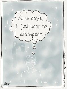 One of those days. INFJ Cartoon from http://infjoe.wordpress.com.