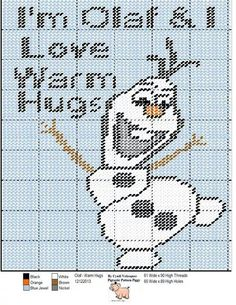 OLAF - WARM HUGS by CYNDI VELASQUEZ - WALL HANGING - FROM DISNEY'S FROZEN