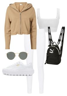 """Untitled #23674"" by florencia95 ❤ liked on Polyvore featuring Joseph, Cotton Citizen, Puma and Ray-Ban"