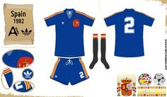 Spain away kit for the 1982 World Cup Finals. baa62b91e