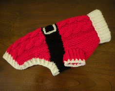 Reserved for Tricia - Santa Dog Sweater - Cable Knit - Christmas - Holiday - M