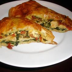 Quite possibly my favorite meal- Mediterranean Puff Pastry Chicken