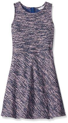 ba00efbc5017d Brooks Brothers Girls Big Girls Tweed Sleeveless Dress Pink Medium    Read  more at the