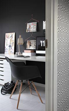 bold black paint color, Eames Molded Plastic Dowel-Leg Armchair