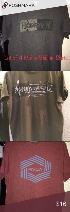 4 Men's Medium Short Sleeve Shirts   • Gray 4 Men's Medium Short Sleeve Shirts   • Gray Hurley   • Aeropostale   • Red RVCA   • Black Hurlery Tops Tees - Short Sleeve