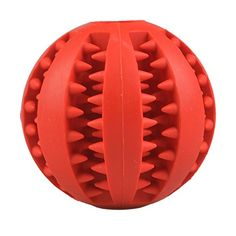 Dog Toy Balls for Dogs Durable NonToxic Strong Tooth Cleaning Dog Dog Toy Ballss for Pet TrainingPlayingChewing Red *** Click image for more details.(This is an Amazon affiliate link)