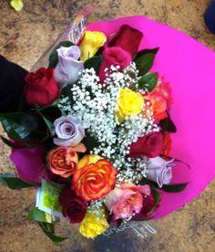 Ramo de rosas multicolor #regalaflores
