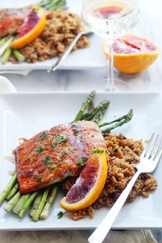 Blood Orange Glazed Salmon recipe on steakbytes.com