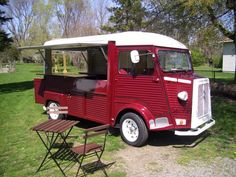 HY Citroen Type H, Citroen H Van, Vintage Food, Vintage Recipes, Catering Van, Mobile Cafe, Best Food Trucks, Food Vans, Street Food
