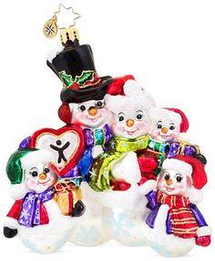 Old World Christmas Ornaments, Christmas Snowman, Dave Thomas, Christopher Radko Ornaments, Glass Ornaments, Bowser, Charity, Foundation, Adoption