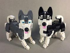 Husky | by ZiO Creation Lego Projects, Animal Projects, Lego Bathroom, Lego Dog, Custom Puppets, Lego Craft, Lego Minifigs, Lego For Kids, Cool Lego Creations