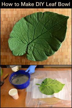 How to Make DIY Leaf Bowl  Display your favorite accessories into this beautiful DIY craft.