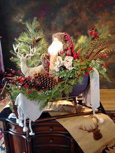 Christmas display at