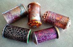 Copper pipe beads by Jayne LeRette, BadgerBeads - Perle e componenti dai tubi di rame
