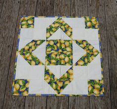 Quilted Table Topper Patchwork Quilted Table by GabbysQuilts
