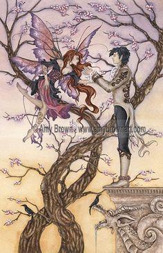 Temptations fairy romance 8.5x11 PRINT by Amy Brown. $14.00, via Etsy.