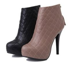 free shipping ankle boots  winter warm women lady half fashion sexy shot boot high heel shoes P2910 size 34-39 $58.99