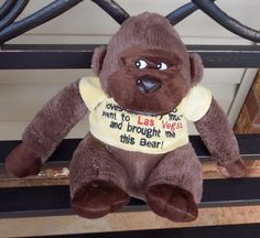 "9"" 2014 SOMEONE WHO LOVES ME Las Vegas Plush MONKEY Ape w/ Shirt    Toys & Hobbies, Stuffed Animals, Other Stuffed Animals   eBay!"
