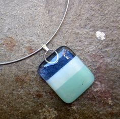 Color block pendant necklace in pretty summer colors
